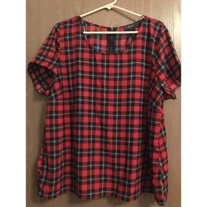 Forever 21 Plus Red Plaid Top